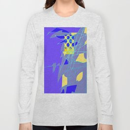 Yellow Square Hatchling  Blue-purple  Abstract Long Sleeve T-shirt