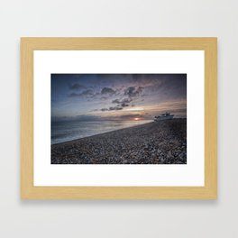 Hythe Beach at Sunset Framed Art Print