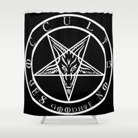 occult Shower Curtains featuring OCCULT 13 BY EVERETTE HARTSOE by House of Hartsoe