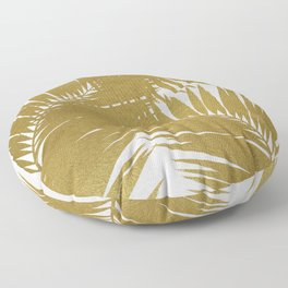Palm Leaf Gold III Floor Pillow