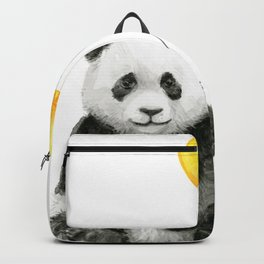 Panda Watercolor Animal with Yellow Balloon Nursery Baby Animals Backpack