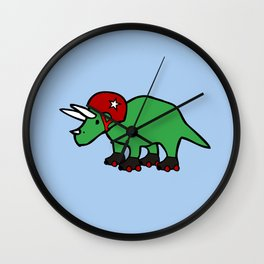 Roller Derby Triceratops Wall Clock