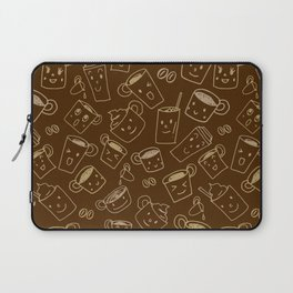 Coffee illustration pattern Laptop Sleeve