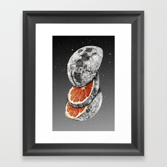 Lunar Fruit Framed Art Print