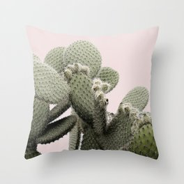 PLANT ON PINK CACTUS Throw Pillow