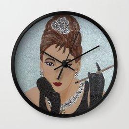 Breakfast in Tiffany homage Wall Clock