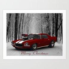 #MerryChristmas Camaro by @ernhrtfan Art Print