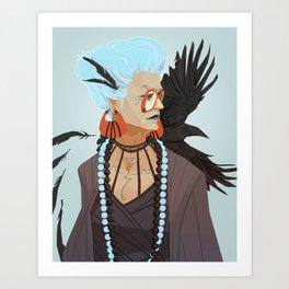 Raven Witch Art Print