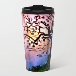 Love Tree Watercolor Painting Travel Mug