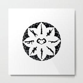Yoga Circle Metal Print