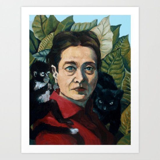 Simone DeBeauvoir by reneebolinger
