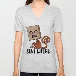 Stay Weird Sack Monkey Unisex V-Neck