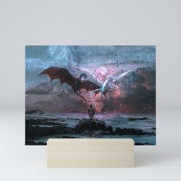 Dragon castaway Mini Art Print