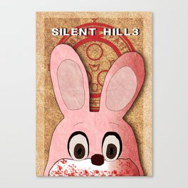 Silent Hill 3 Robbie the Rabbit poster Canvas Print