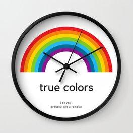 be you - true colors Wall Clock