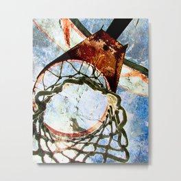 Basketball art print halftime 1 Metal Print
