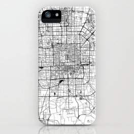 Beijing White Map iPhone Case