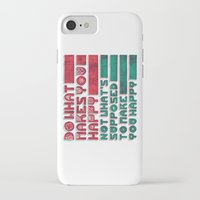 be happy iPhone & iPod Cases featuring Happy by Hector Mansilla
