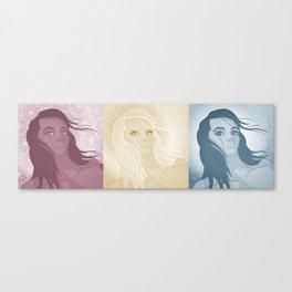 Selfie #Pout - Close-up in 3-way Monochrome Canvas Print