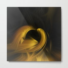 Beautiful abstract fractal art of colorful lights Metal Print