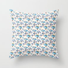 thousands of little blue trees Throw Pillow