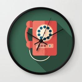 Retro Payphone Wall Clock