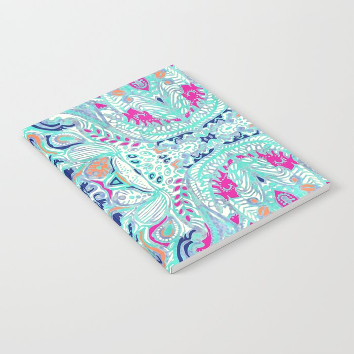 Bright Damask Jungle Notebook