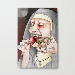 Watch Your Tongue Sister Metal Print