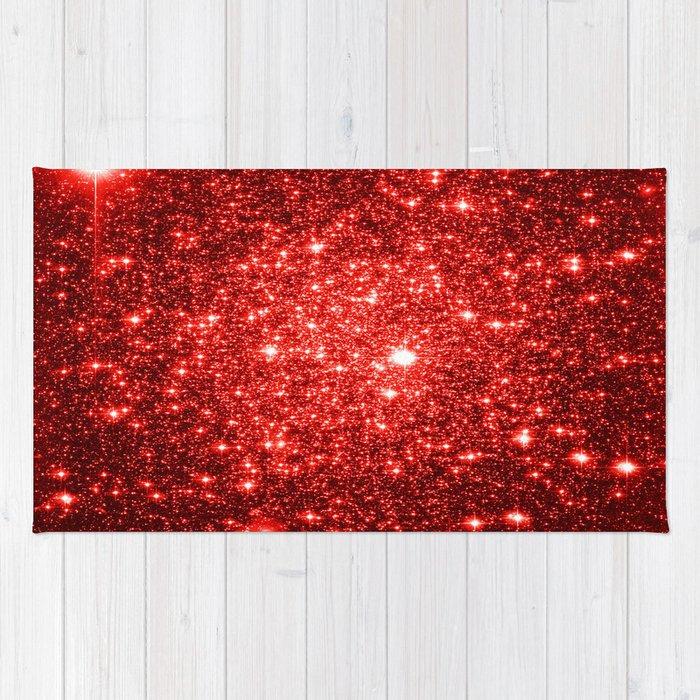 Red Sparkle Rug