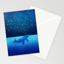 Whale Spouting Stars - Magical & Surreal Stationery Cards