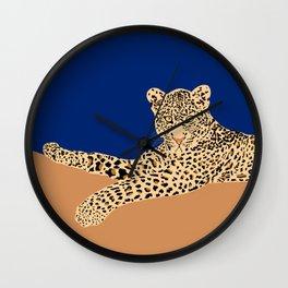 Laying Leo Wall Clock