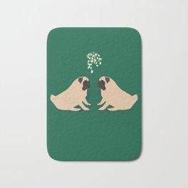Pug Mistletoe Bath Mat