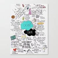 john green Canvas Prints featuring The Fault in Our Stars- John Green by Natasha Ramon