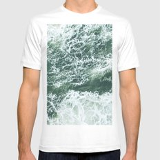 Oceans SMALL White Mens Fitted Tee