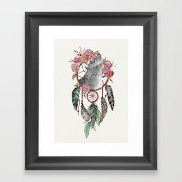 Wolf Dream Catcher Framed Art Print