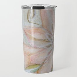 Pink Flower Art Travel Mug