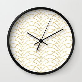 Art Deco Series - Gold & White Wall Clock