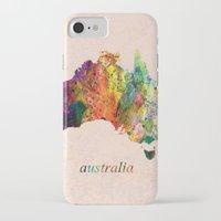 australia iPhone & iPod Cases featuring Australia  by mark ashkenazi