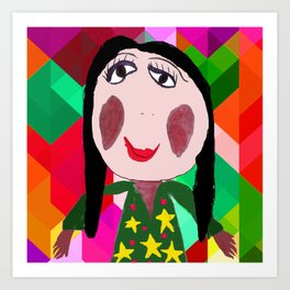 My Mother Azima Liana | Painting by Elisavet | Kids Painting | Kids Room Art Print
