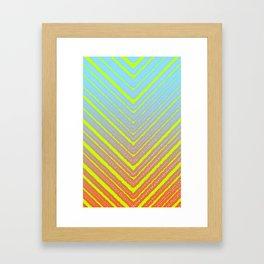 Outside Triangles Framed Art Print