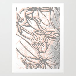 Peach Leaves Art Print