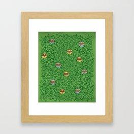 Little Leafy Friends Framed Art Print