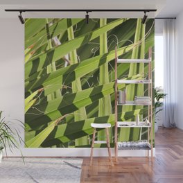 TEXTURES -- Palm Fronds Intersecting Wall Mural