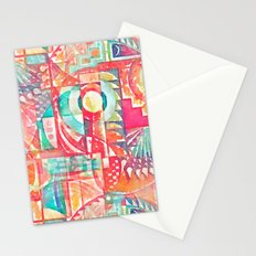 Sunshine Geometry in Watercolor Stationery Cards