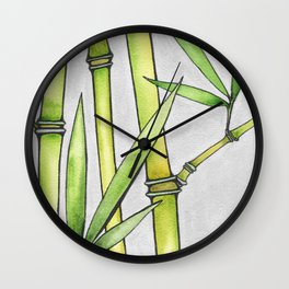 Three Bamboo Wall Clock