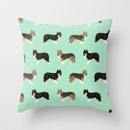 Shetland Sheep Dog pattern custom dog gifts for unique dog breed pet friendly dogs Throw Pillow