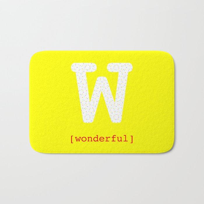 #W [wonderful] Bath Mat