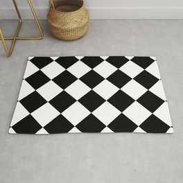 Rhombuses (Black & White Pattern) Rug