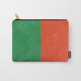 Retro Bicolore Pattern Carry-All Pouch