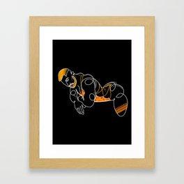 lonniedraws x matt felline Framed Art Print